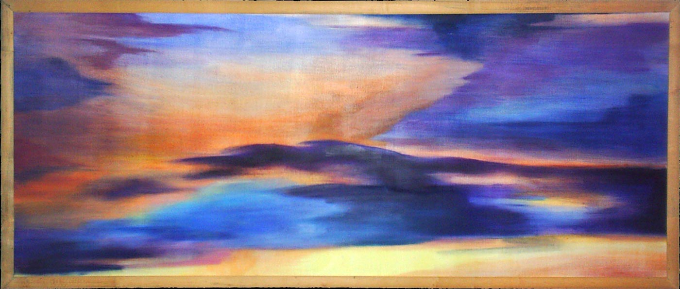 نقاشی انتزاعی 1- اکرولیک و رنگ روغن روی بوم