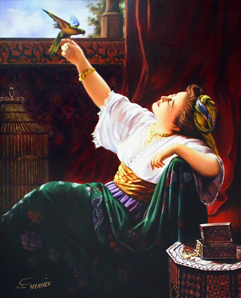 نقاشی فیگور و پرتره رویای رهایی - رنگ روغن روی بوم