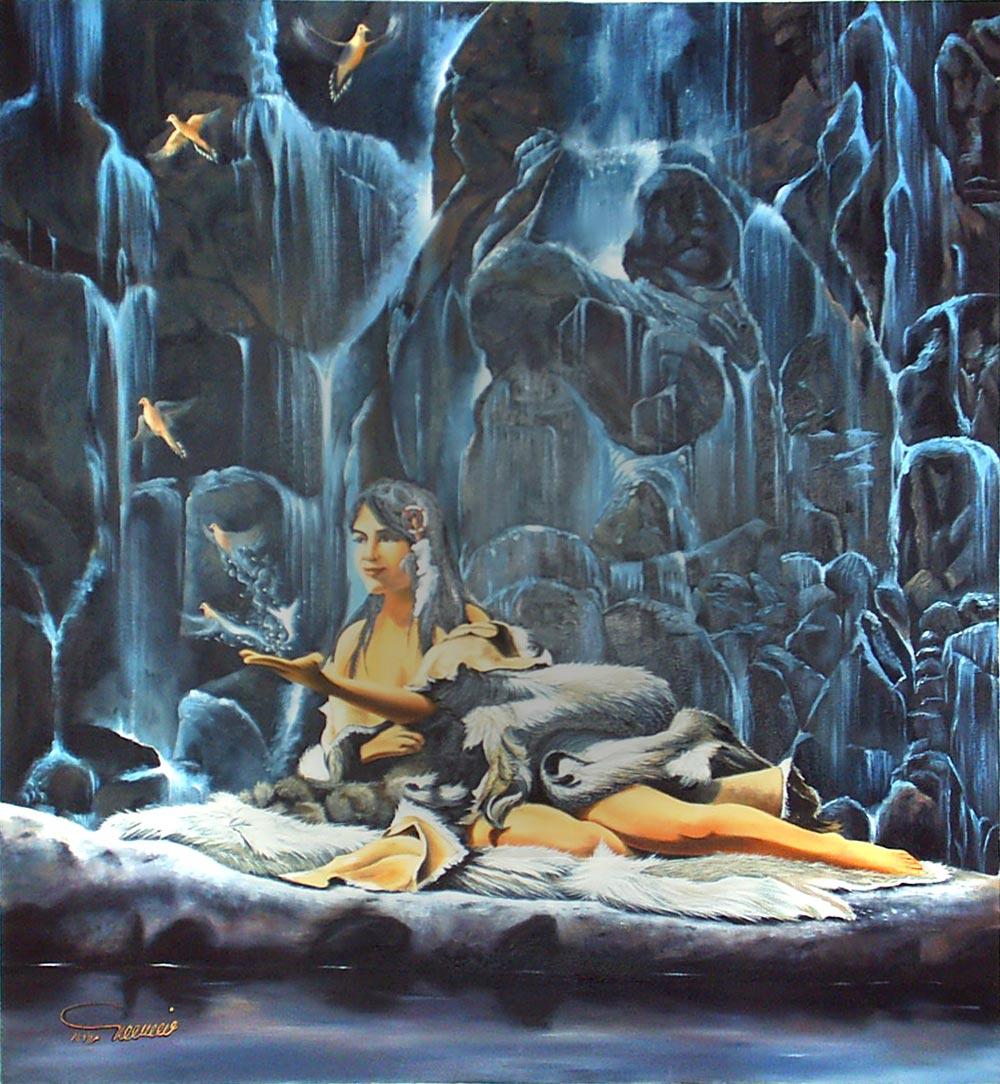 نقاشی فیگور و پرتره- بدون عنوان 2- رنگ روغن روی بوم