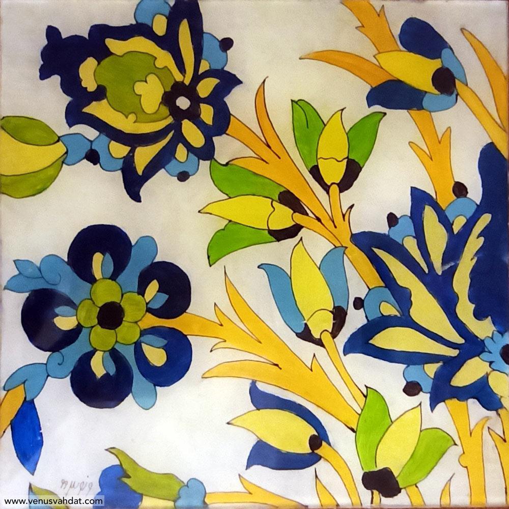 صنایع دستی-نقاشی پشت شیشه-طرح ختایی